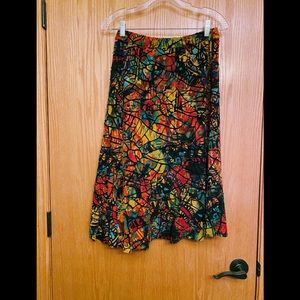 Chico's Travelers skirt with multicolored patches